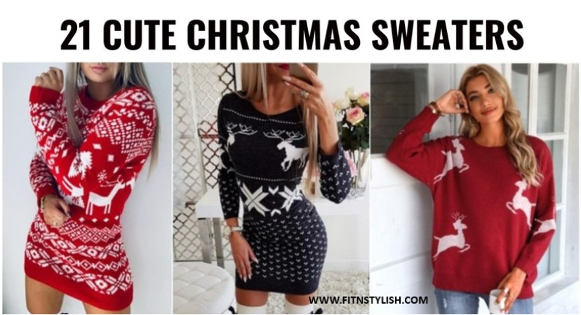 21 Cute & Classy Christmas Sweaters For Women