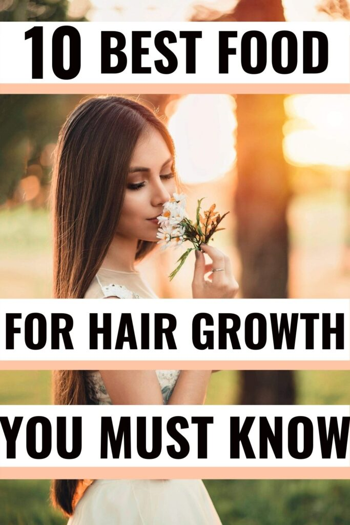 Food for hair growth and thickness