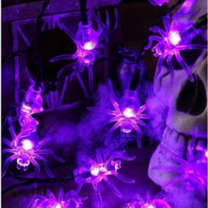 1pc String Light With 10pcs Spider Shaped Bulb