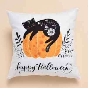 Halloween Cat Print Cushion Cover Without Filler 3